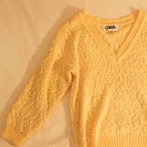 Cozy Yellow Genesis Sweater